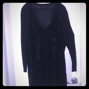 NWOT 3X STUNNING !!! VELOUR AND KNIT SWEATER